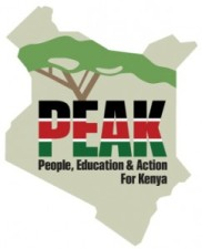 Click on the logo to visit PEAK - People, Education, and Action for Kenya